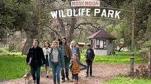 "Matt Damon, Scarlett Johansson, Maggie Elizabeth Jones, Carla Gallo, Patrick Fugit, Elle Fanning and Colin Ford in a scene from ""We Bought a Zoo"" (Neal Preston)"