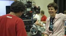 Director Rachel Talalay on the set of Doctor Who. (BBC Worldwide)