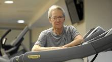 Lawrence S. Bloomberg, former chair of National Bank Financial and a board of director with the Mount Sinai Hospital Foundation is photographed working out on exercise equipment at the start of his day on May 16 2011. Bloomberg is behind the Bloomberg -Manulife Prize for the Promotion of Active Health. The prize , worth $50 000, will recognize research into physical activity and wellness. (Fred Lum/The Globe and Mail/Fred Lum/The Globe and Mail)