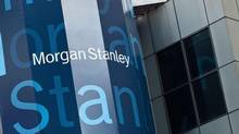 Morgan Stanley's name is displayed on its headquarters in New York. The bank has launched a strategic review of its wealth-management division in India after only four years of operation. (ANDREW BURTON/Reuters)