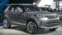 The 2015 Land Rover Discovery Vision Concept is introduced during the 2014 New York International Auto Show, at the Javits Convention Center, in New York, Wednesday, April 16, 2014. (Richard Drew/AP Photo)