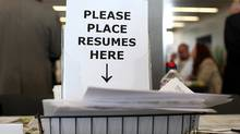 Job fair. (Justin Sullivan/Getty Images)