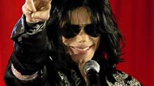 U.S. pop star Michael Jackson gestures during a news conference at the O2 Arena in London in this March 5, 2009 file photo. (STEFAN WERMUTH/REUTERS)