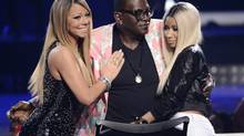Mariah Carey, Randy Jackson and Nicki Minaj on American Idol. (Phil McCarten/Reuters)