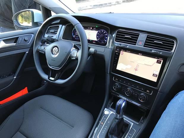 2017 VW eGolf interior.