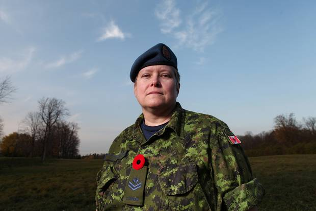 Master Corporal AJ Cottreau lost her husband, Warrant Officer Charles Florian, to suicide. Instead of harbouring rage and resentment, MCpl. Cottreau has channeled her loss back into a career that combines divine and military service. She is studying to become a padre.