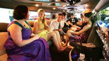 The limo ride to prom night. (Robert F. Bukaty/AP)