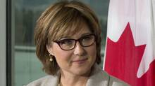 British Columbia Premier Christy Clark during a news conference in Vancouver, Oct. 17, 2012. (John Lehmann/The Globe and Mail)