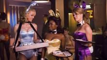 "(Left to right) Amber Heard as Maureen, Naturi Naughton as Brenda and Leah Renee as Alice in the pilot episode of ""The Playboy Club"" (Matt Dinerstein/NBC)"