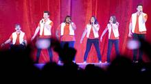 Members of the cast of Glee perform at the Air Canada Centre in Toronto on Saturday June 11, 2011. (Chris Young/THE CANADIAN PRESS/Chris Young/THE CANADIAN PRESS)