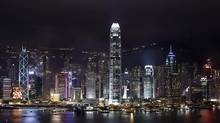 A night view of Hong Kong's legendary skyline. (Vincent Yu/AP)