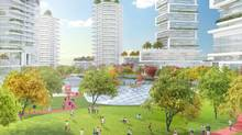 An artist's rendering of the Oakridge project. Elevated Commons Looking North. (Brook Pooni Associates)