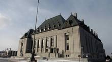 The Supreme Court of Canada building is shown in Ottawa. (DAVE CHAN FOR THE GLOBE AND MAIL)