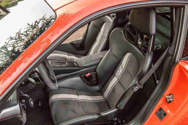 The deep seats of the new GT3 feel 'like falling into a well,' writes Brendan McAleer.