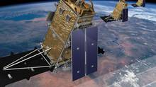 Artist's rendition of the Radarsat Constellation satellites. (MacDonald Dettwiler and Associates Ltd.)