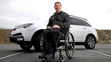 Rick Hansen uses the rear hatch '90 per cent of the time' to get in to his MDX. (Rafal Gerszak/Rafal Gerszak for The Globe and Mail)