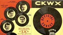 The front and back of a record chart issued by Vancouver radio station CKWX. (Handout/Handout)