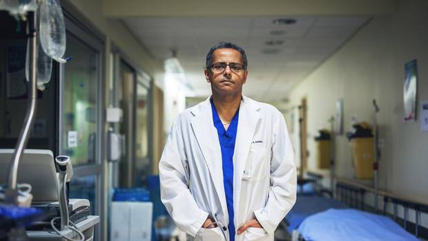 Dr. Anil Chopra is photographed in the emergency room at Toronto General Hospital on October 21, 2016.