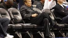 In this April 4, 2010, file photo, Los Angeles Clippers owner Donald Sterling sits courtside during the NBA basketball game between the New York Knicks and the in Los Angeles. (Danny Moloshok/AP)