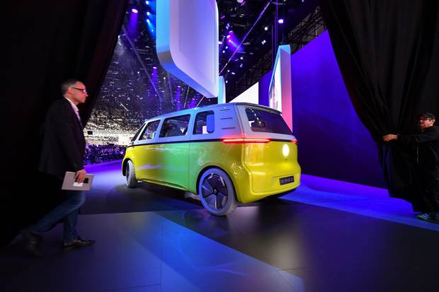 The Volkswagen ID Buzz concept car.