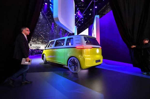 The Volkswagen ID Buzz concept car.