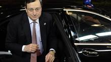 ECB head Mario Draghi's interpretation of his bank's mandate for helping euro zone nations is broader than that of the Bundesbank. (STRINGER/REUTERS)
