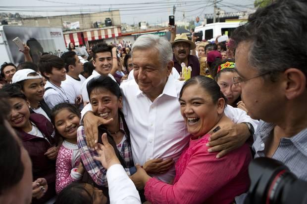 Andrés Manuel López Obrador at a campaign event on May 18, 2017.