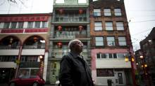 Fred Mah of the Heritage Buildings Association wants people to return to the area. In a unanimous vote last week, Vancouver city council approved the first rezoning application to emerge from the lifting of Chinatown's long-time height restrictions, which is expected to pave the way for numerous high-rise developments. (Rafal Gerszak for The Globe and Mail)