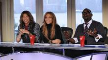 From left, Steven Tyler, Jennifer Lopez and Randy Jackson are judges for the tenth season of American Idol. (Michael Becker / FOX/Michael Becker / FOX)