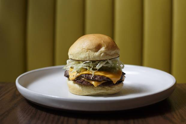 Wishbone's double beef burger.