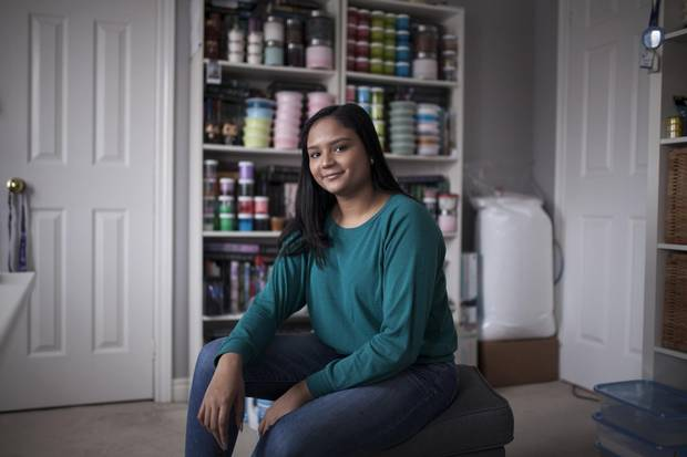 16-year-old Alyssa Jagan, slime creator and author of Ultimate Slime, at her Toronto home on Dec. 10, 2017.