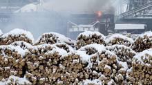 Burns Lake mill, Saturday, Jan. 21, 2012. (Jonathan Hayward/ The Canadian Press/Jonathan Hayward/ The Canadian Press)