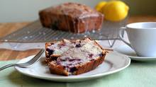 Lemon blueberry buttermilk pound cake (Stephanie Eddy for The Globe and Mail)