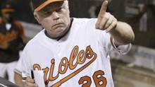 Baltimore Orioles manager Buck Showalter is close to getting a three-year contract extension, CBS Sports reported Friday night. (file photo) (JOE GIZA/REUTERS)
