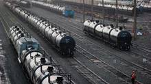 Rail tank cars at CP's yard near Vancouver. (DARRYL DYCK for The Globe and Mail)
