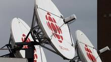 Satellite dishes sits on the roof of one of the CBC studios in Halifax on Wednesday April 4, 2012. (Andrew Vaughan/CP)