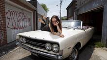 Jazz singer Holly Cole and her 1968 Ford Gran Torino. (Tim Fraser for The Globe and Mail)