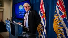 Dr. Perry Kendall speaks about a report on Aboriginal health during a news conference in Vancouver, B.C., on Thursday March 28, 2013. (DARRYL DYCK For The Globe and Mail)