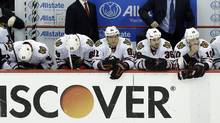 The Chicago Blackhawks bench (Paul Sancya/Associated Press)