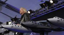 Richard Branson speaks at a news conference before Virgin Galactic unveiled its new commercial spaceship SpaceShipTwo in Mojave, Calif., in 2009. (Phil McCarten/Reuters/Phil McCarten/Reuters)