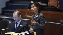 Councillor Kristyn Wong-Tam, right, says the Open Streets program could provide new space for public recreation without the need for investment in new infrastructure. (Fred Lum/Fred Lum/The Globe and Mail)