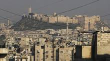 A general view shows Aleppo's historical citadel controlled by forces loyal to Syria's President Bashar al-Assad December 30, 2012. (MUZAFFAR SALMAN/REUTERS)