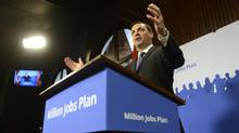 Ontario Progressive Conservative Leader Tim Hudak says a Tory government would make labour laws more flexible to try to stem the flow of job losses, especially in the province's once mighty manufacturing sector. (FRED LUM/THE GLOBE AND MAIL)