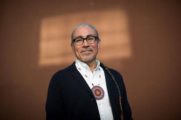 Harlan Pruden, who is Cree and identifies as two-spirit.