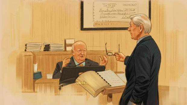 Mike Duffy responds to defence lawyer Donald Bayne on Dec. 14, 2015.
