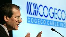 Cogeco Cable Inc. President and CEO Louis Audet addresses the Montreal-based cable and internet company's 2004 annual general meeting. (J.P. Moczulski/CP)