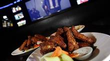 Wings at The Real Sports Bar in Toronto (Deborah Baic/The Globe and Mail)