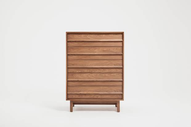A marcel chest. Matthew Kroeker juggles his own studio as well as Top & Derby, a company he co-founded in 2013 whose aim is to diminish the stigma of disability through design.