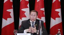 Justice Minister Peter MacKay speaks during a discussion on a Canadian victims' bill of rights in Ottawa on Sept. 5, 2013. (BLAIR GABLE/REUTERS)