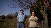 Bob and Dorothy Glover on their property in Hopedale, Ohio, Wednesday. (Moe Doiron/The Globe and Mail)